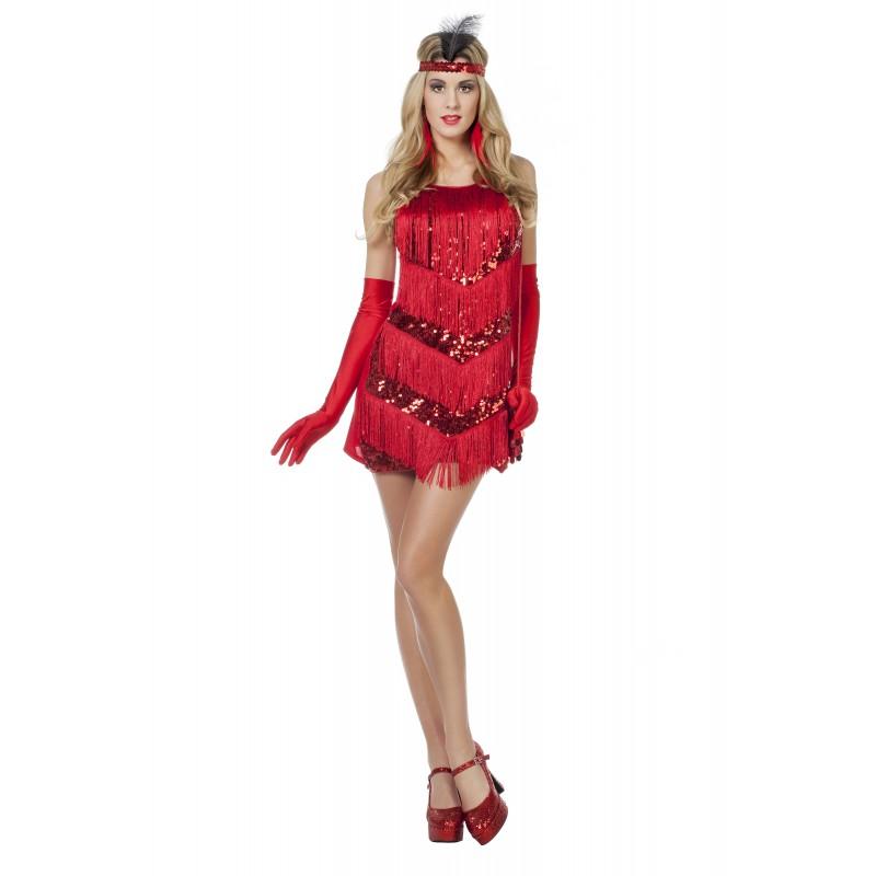 922e727021e8c Déguisement robe Charleston rouge - Happy Fiesta Lyon