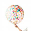 Kit de 8 gros ballons confettis multicolores