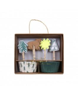 Kit de 24 moules pour cupcakes Ourson Let's Explore