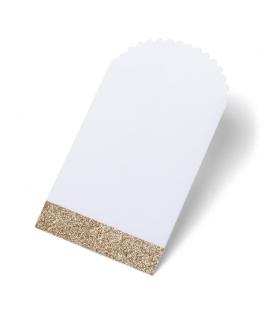 pochette papier blanche & cuivre