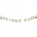 Guirlande Joyeux Noël & tassels paillettes Or - 16 cm x 3 m