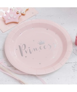 Assiettes roses princess