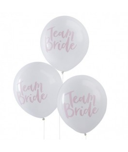 Ballons Team Bride blanc & rose