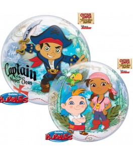Ballon single Bubble Captain Jake le Pirate