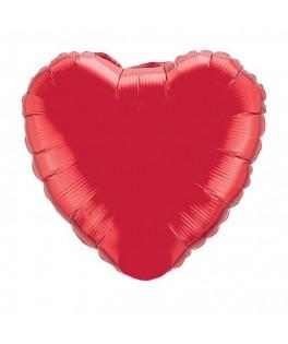 Ballon métallisé coeur rouge