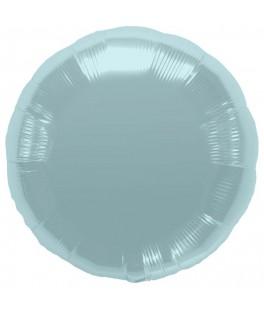 Ballon métallisé rond bleu pastel