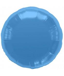 Ballon mylar rond bleu turquoise