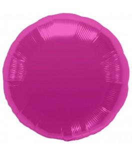 Ballon mylar rond rose pastel