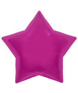 Ballon mylar étoile magenta