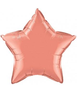 Ballon mylar étoile corail