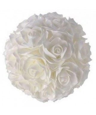 boule roses blanche