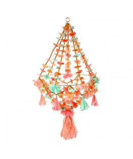 Grand chandelier en tissu & papier