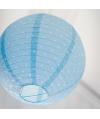 lanterne japonaise bleue à pois