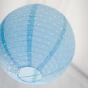 Lanterne japonaise pois bleu ciel 35 cm