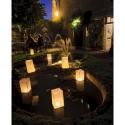5 Lanternes de sol blanches