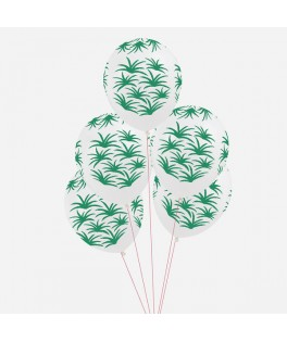 Ballons Feuilles vertes Tropical