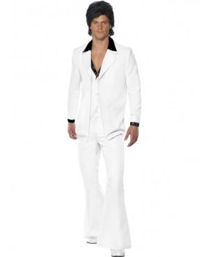 Deguisement  Disco Années 70 Blanc Homme