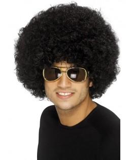perruque afro noire adulte