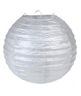 Lanternes en papier Argent L 20 cm