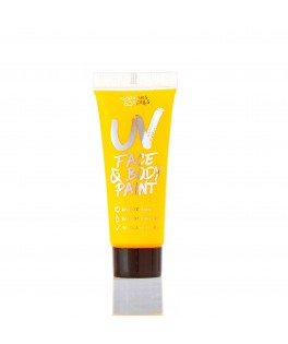 Tube maquillage UV corps et visage 10ml - jaune