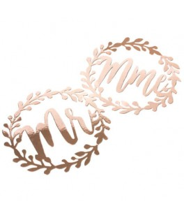 Couronne Laurier Mr & Mme rose gold
