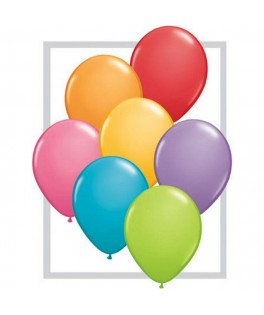 100 Ballons couleurs festives multicolores