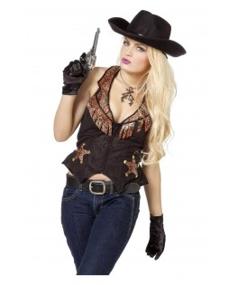 Deguisement Gilet Cowgirl Western