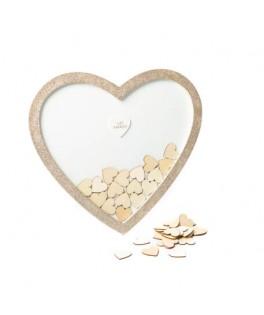 Livre d'Or cadre Coeur paillettes